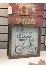 Life Is A Beautiful Ride Framed Sign