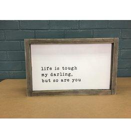 My Darling Wood Framed Sign