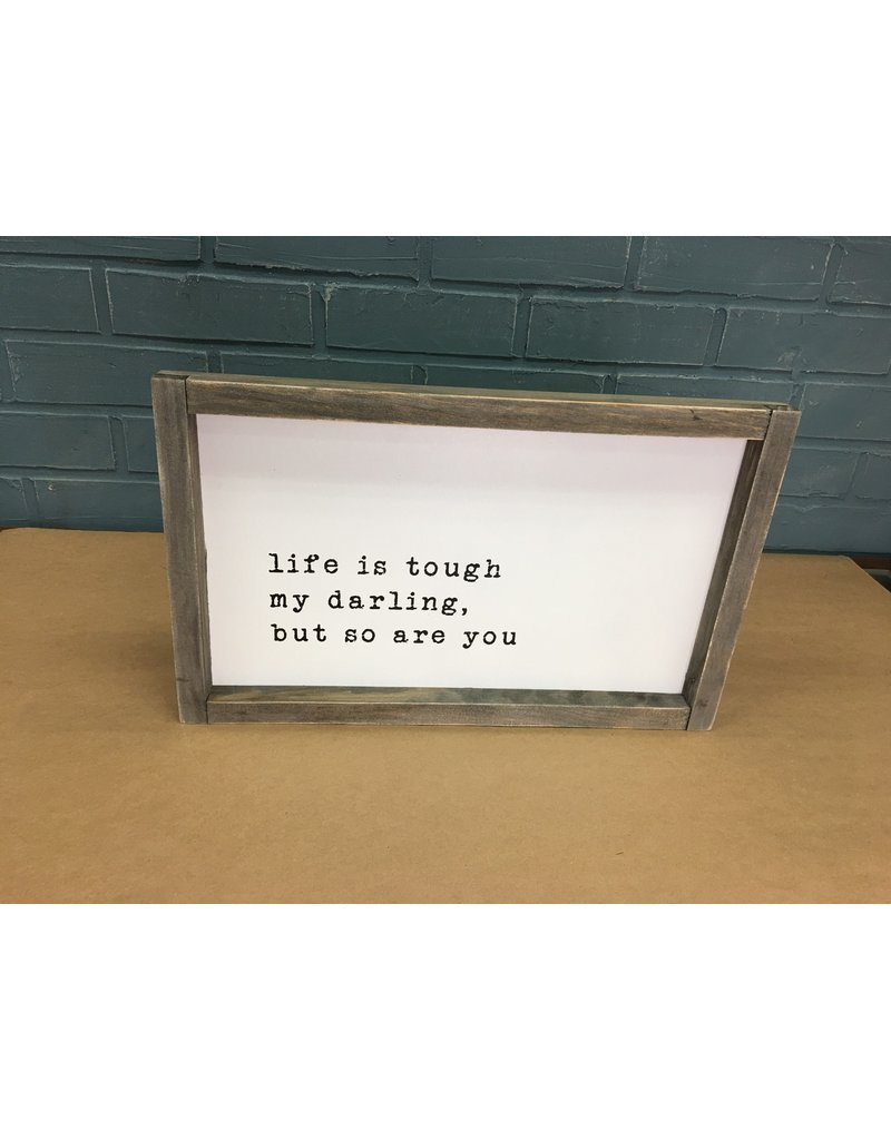 My Darling Wood Framed Sign