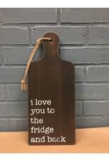 Fridge and Back Cutting Board Wall Hanger