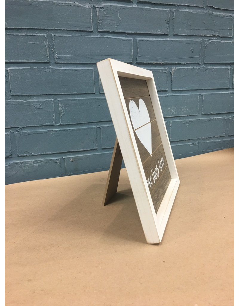 Love Framed Sign w/ Easel