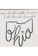 Center of my World Ohio Print