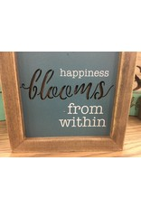 Happiness Blooms from Within Framed Cutout