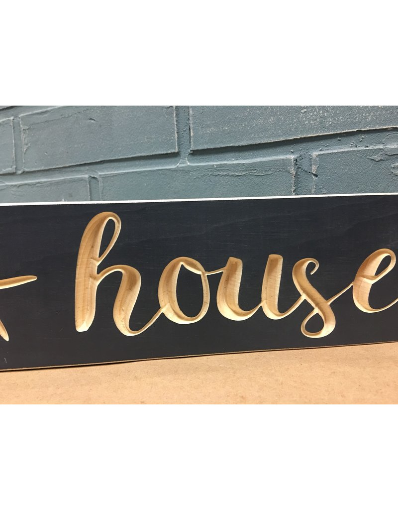 "Beach House Engraved Sign 24"""
