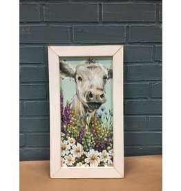 Field Day Print 9x18 White Frame