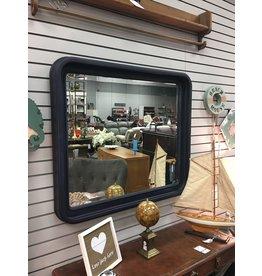Coastal Blue Beveled Mirror