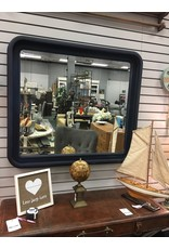 Coastal Blue Beveled Mirror