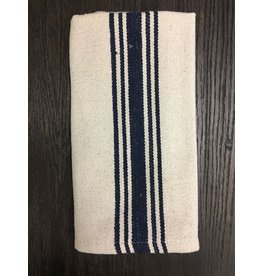 Grain Sack Navy Stripe Towel