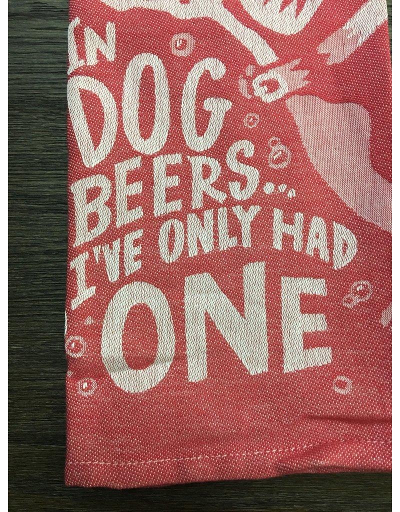 Dog Beers Jacquard Dish Towel