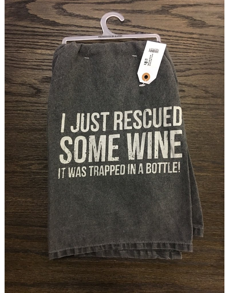 Rescued Some Wine Dish Towel