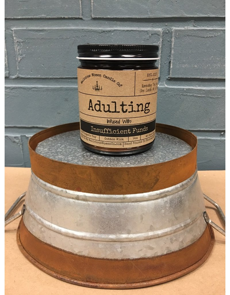 Malicious Women Candle Co. Adulting - A Hot Mess Soy Candle