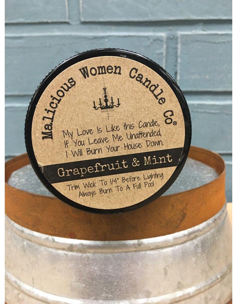 Malicious Women Candle Co. I'm My Own Unicorn - Grapefruit & Mint Soy Candle