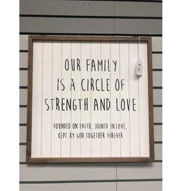 Our  Family Framed Sign