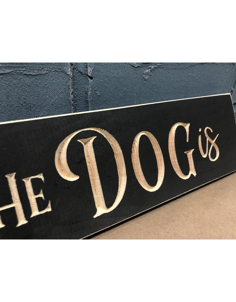 Home is Where the Dog Is Engraved 24""