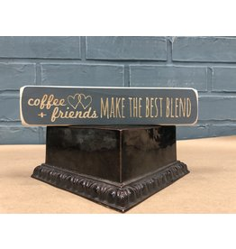 "Coffee + Friends Make the Best Blend Engraved Block, 8"""