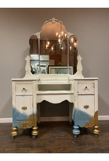 Blue Ombre 4 Drawer Vanity