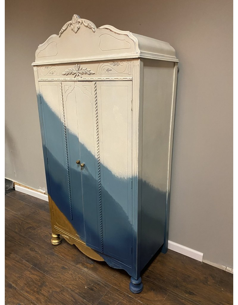 Blue Ombre Cedar Lined Wardrobe