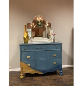 Blue Ombre 3 Drawer Dresser w Mirror