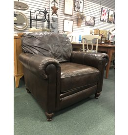 Brown Leather Club Arm Chair