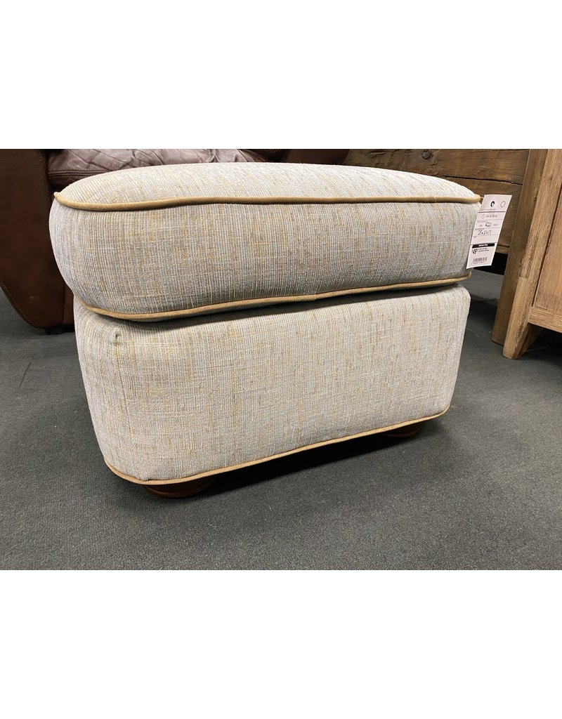 Small Light Blue Upholstered Ottoman