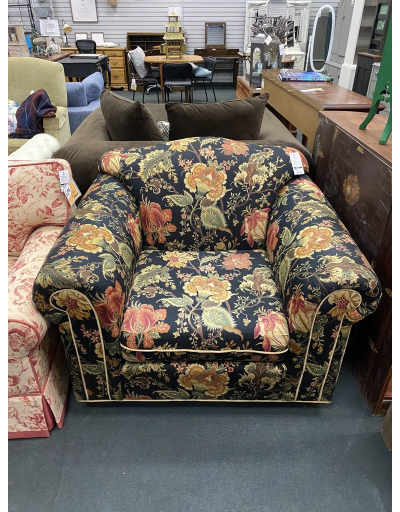 Floral Upholstered Armchair