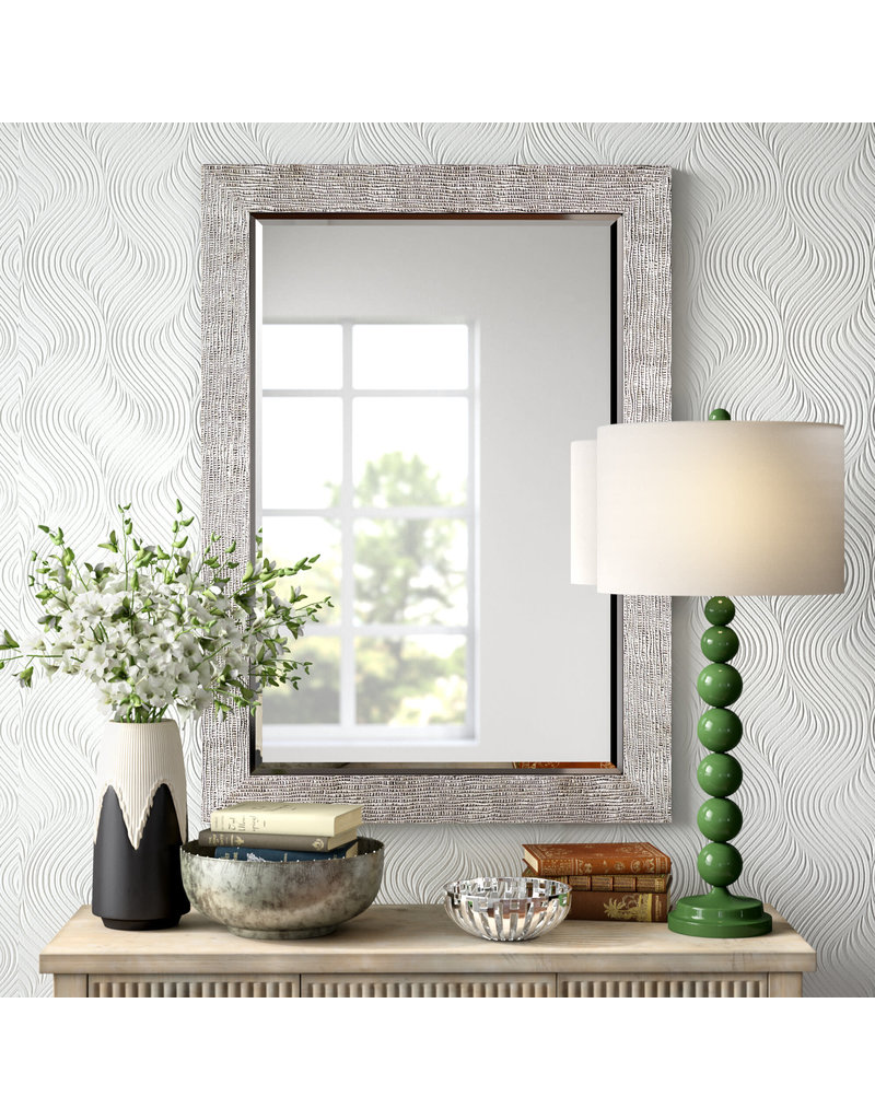 Rectangular Silver Accent Mirror Heirloom Home