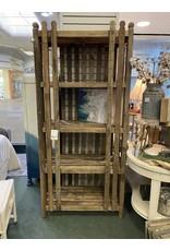 Rustic Lath Slat Bookcase