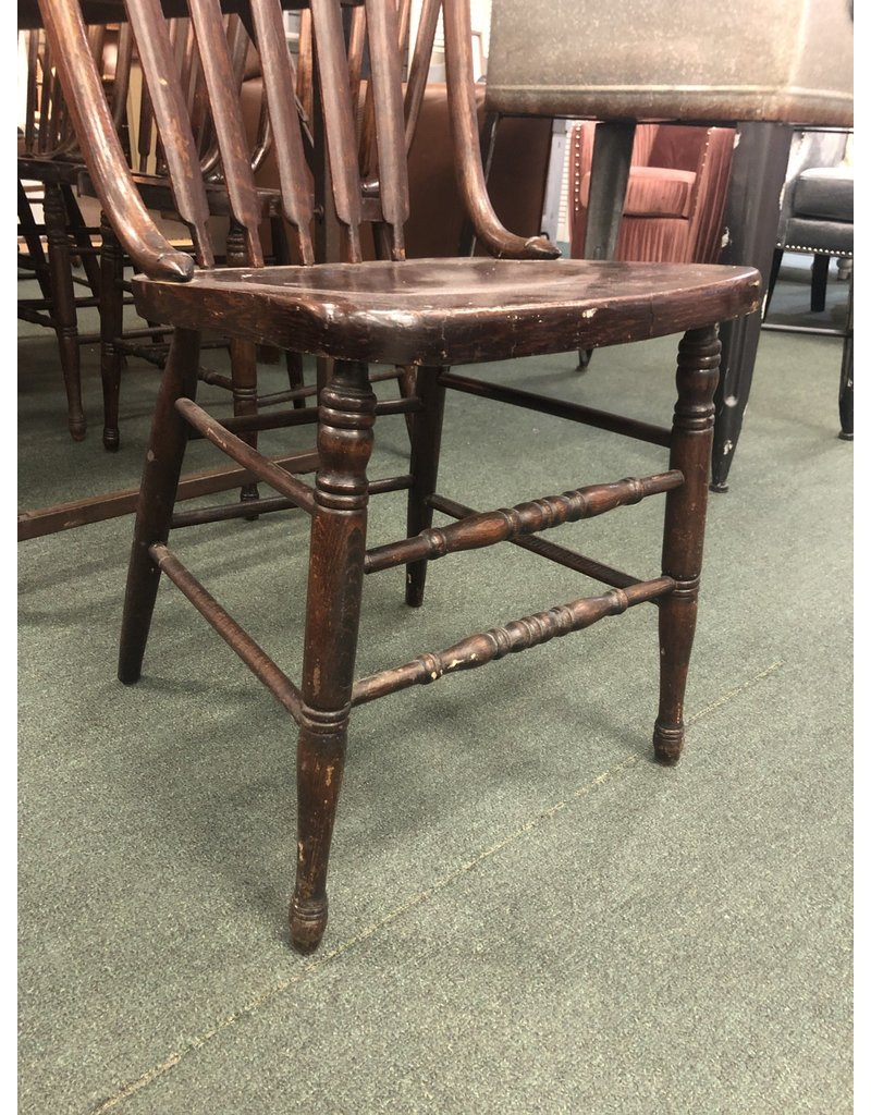 Set of 6 Antique Oak Arrow Back Chairs