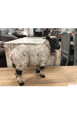"Resin Sheep Figurine, 11"""