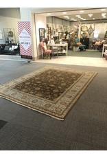 Hand Woven Teal and Brown Area Rug - 8'x10'