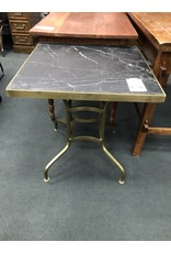 Slate and Brass Accent Table