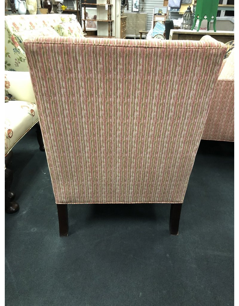 Pink Striped Armchair by Baker Furniture