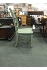 Laurel Foundry Modern Farmhouse Cheryll Solid Wood Teal Dining Chair