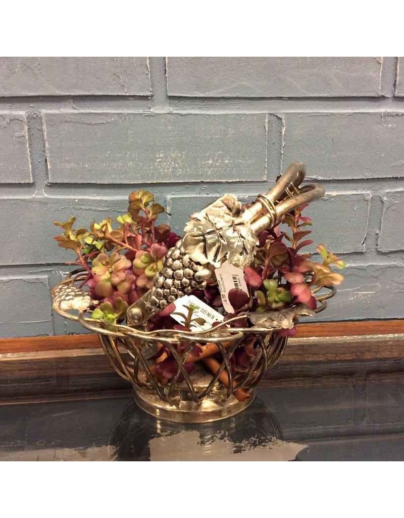 Small Silverplate Grape Basket by Godinger