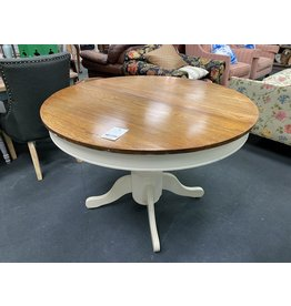 Round Two Tone Dining Table