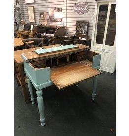 Blue Spinet Desk