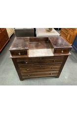 Victorian Solid Wood Dresser w/ Handkerchief Drawers (as is)