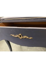 Blue Painted Louis XV Style Secretary Desk w/ Brass Accent