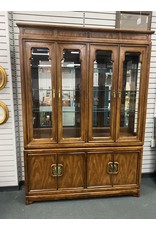 Asian Style 2 Piece Hutch w/ glass Shelves