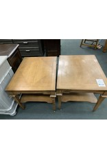 Pair of Wood Side Tables