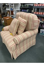 Pink and White Sripped Chair
