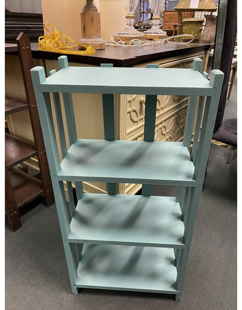 Teal Painted Open Bookcase