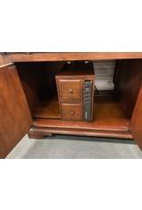 Two Piece Cherry Color Computer Desk