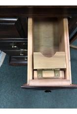 Dark Mahogany Wood Secretary Desk with Drop Front