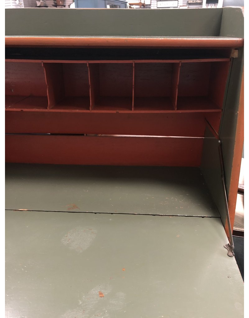 Forest Green Larkin Desk w/ Flip Top