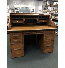 Oak Large Roll Top Desk