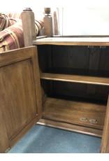 Open Wood Shelf with Bottom Cabinet