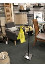 Dark Metal Swing Arm Floor Lamp