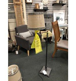 Dark Metal Swing Arm Floor Lamp