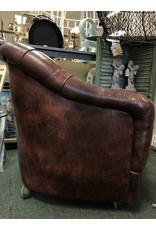 Genuine Leather Tuffted Club Chair